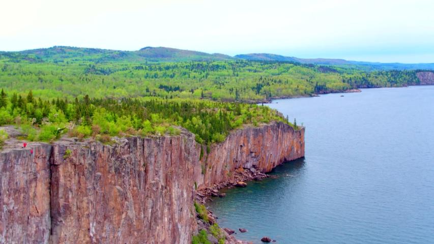 4K Aerial Drone Clip - Split Rock Cliffs & State Park, Minnesota | Shutterstock HD Video #1037304848