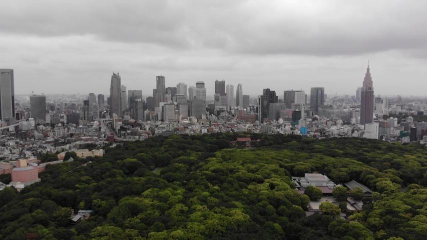 YOYOGI PARK TOKYO JAPAN DRONE | Shutterstock HD Video #1037333888