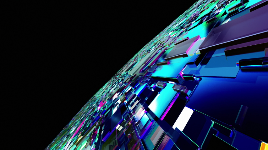 3D animation of Circuit board futuristic server code processing. Futuristic Electronic Circuit Board with Microchips and Processors. Orange, green, blue technology background seamless loop  in 4K | Shutterstock HD Video #1037419358