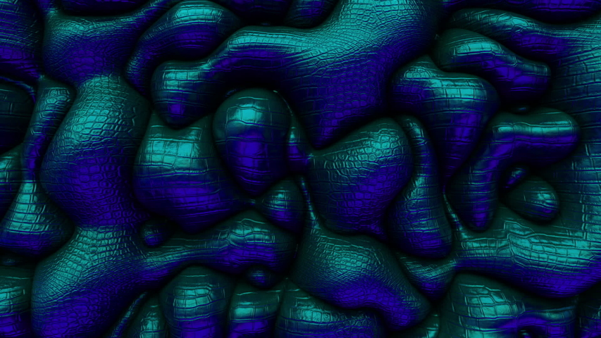 3d Looped abstract snake skin background. Wavy surface with ripples and bubbles.Trendy vibrant texture, fashion textile, graphic design, animated leather texture. | Shutterstock HD Video #1037500148
