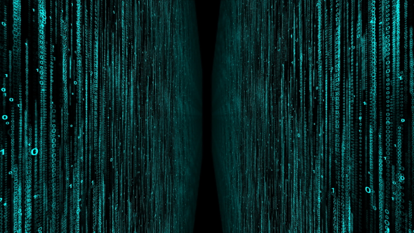 Two matrix walls with numbers 0 and 1 computer world of digital code background | Shutterstock HD Video #1037537468