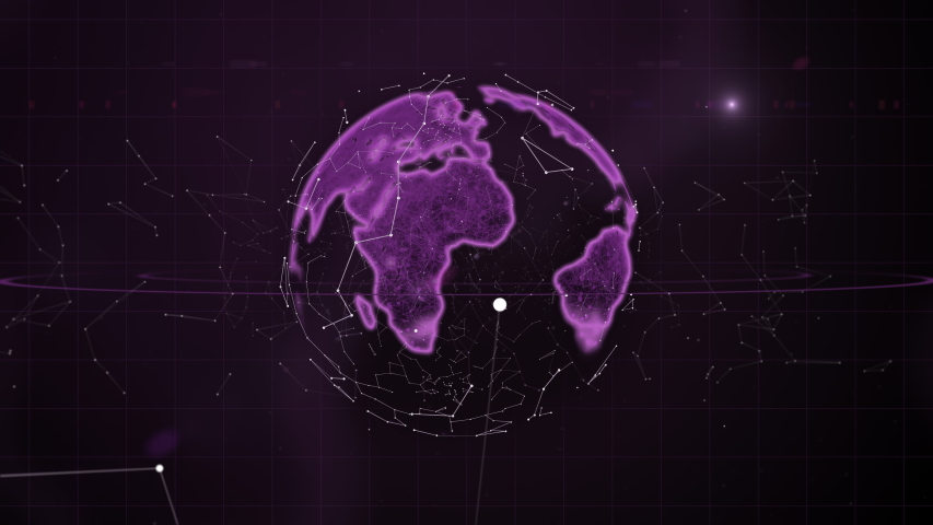 Investing and stock market concept. Particles network rings around the planet. | Shutterstock HD Video #1037548208