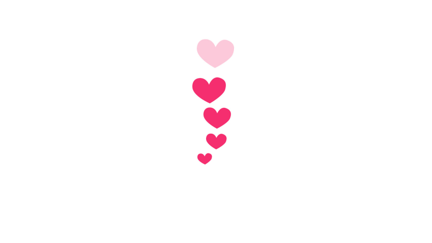 Little animated hearts fly up and disappear. social networks. Alpha channel | Shutterstock HD Video #1037706068
