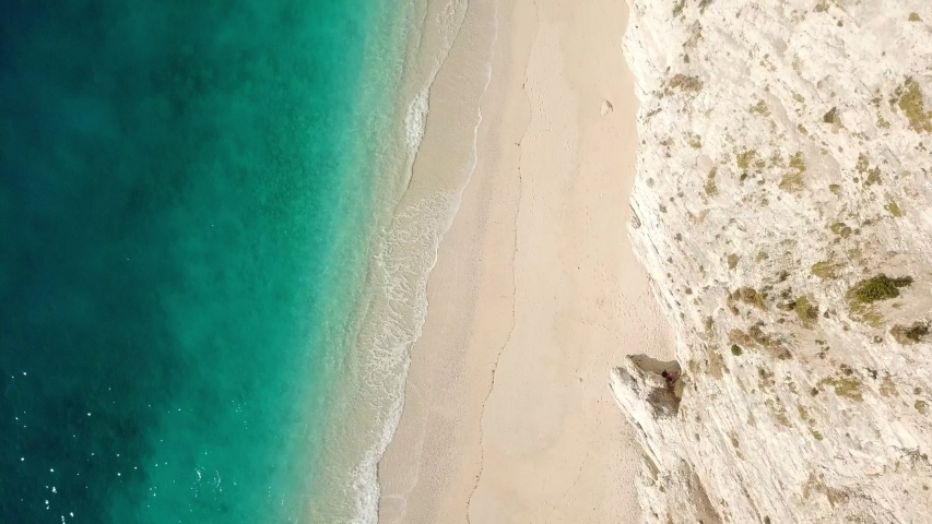 Aerial view of the beautiful seascape at Greece | Shutterstock HD Video #1038001658