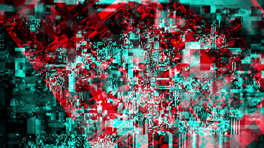 Modern technology background, cyber abstract digital glitch animation with channel shift effect | Shutterstock HD Video #1038604028
