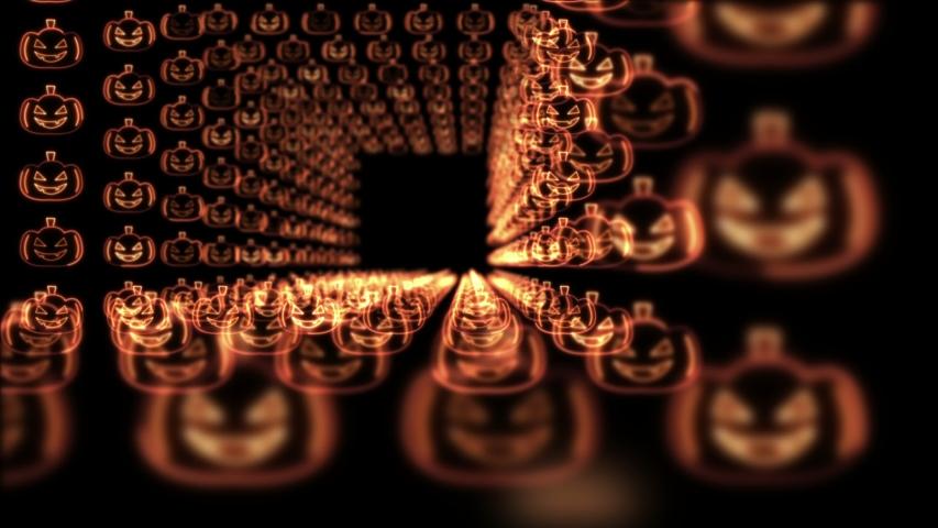 HALLOWEEN PUMPKINS NEON Background, Animation, Loop, 4k    Shutterstock HD Video #1038737798