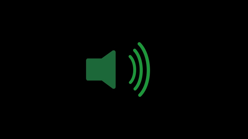 Speaker icon animated. Sound on. | Shutterstock HD Video #1038950378