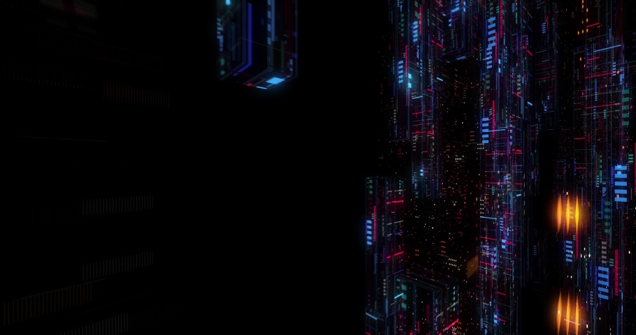 Seamless fly through of abstract circuitry with digital grid background, Data deep learning computer machine. AI artificial intelligence and ML machine learning concept. loop, 3D render | Shutterstock HD Video #1039053158
