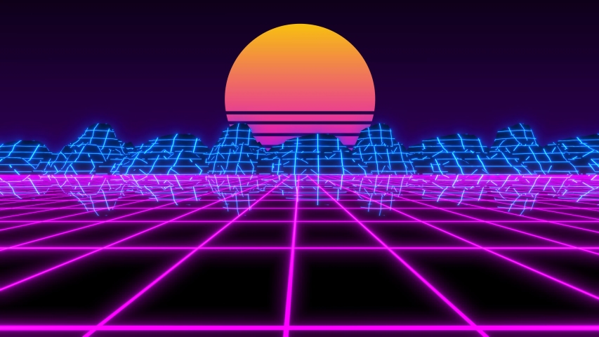 Vaporwave Retro Futuristic 80s Synthwave Stock Footage Video