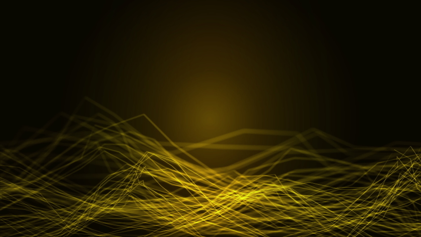 Abstract Illustration swirl motion background of connected smooth line plexus network with curve wave surface flow glowing dot on sound technology and digital innovation business concept | Shutterstock HD Video #1039202978