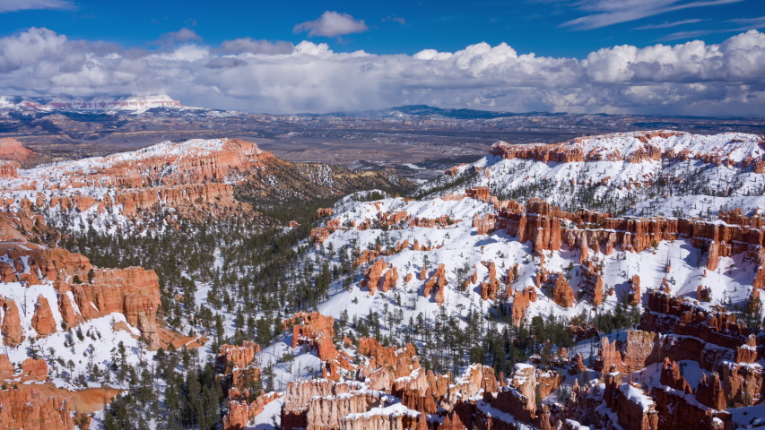 4K Panning timelapse of Bryce Canyon National Park in Winter, Utah, USA | Shutterstock HD Video #1039236638
