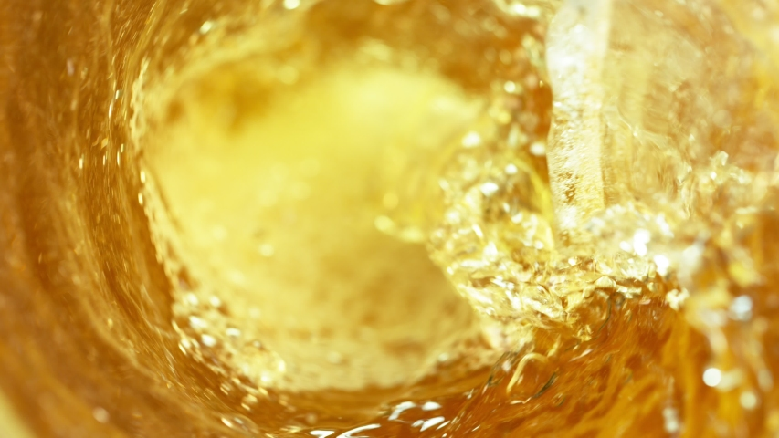 Super Slow Motion Shot of Beer Vortex at 1000 fps. #1039360388