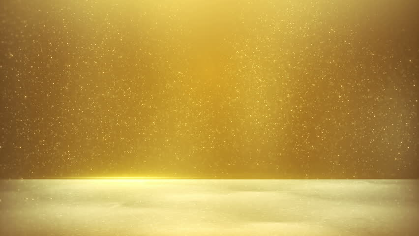 Gold Blank Banner. Computer Generated Seamless Loop