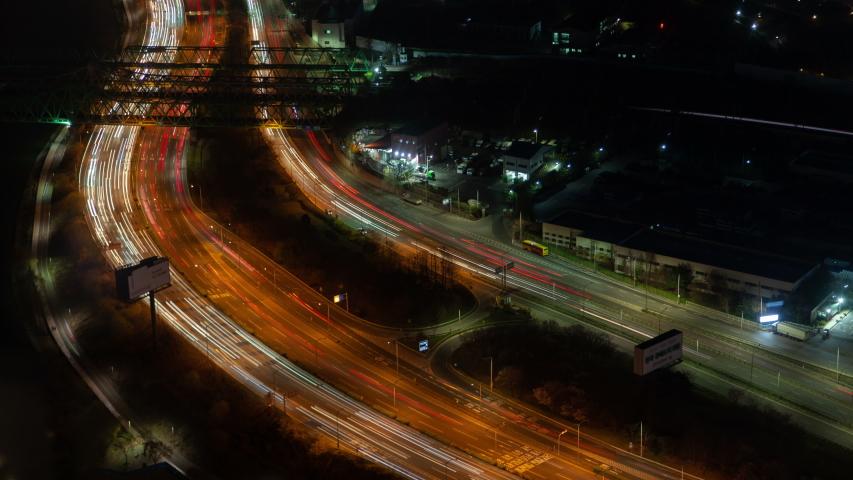 Aerial Korea Illumination Seoul Central Road #1039827758
