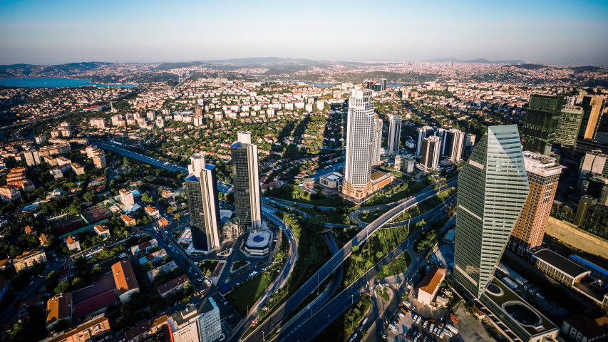 Levent business and financial district of Istanbul, Turkey time lapse | Shutterstock HD Video #1039835858