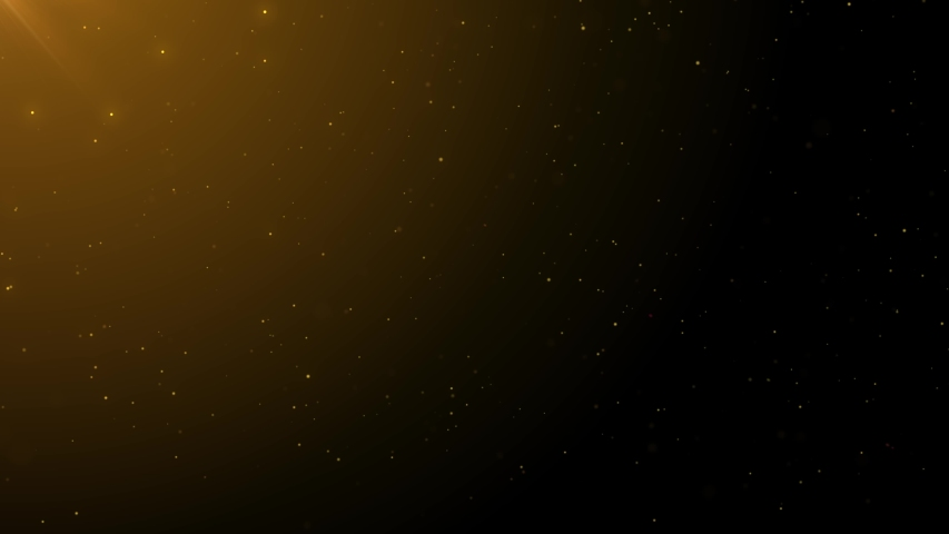 4K Beautiful Gold Floating Dust Particles with Flare on Black Background in Slow Motion. Looped 3d Animation of Dynamic Wind Particles In The Air With Bokeh. | Shutterstock HD Video #1039883168
