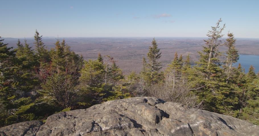 Mountain summit view walking footage    Shutterstock HD Video #1040066168
