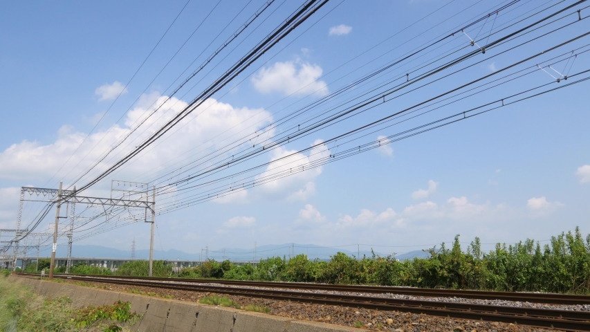 Japanese major private train passes in front of you | Shutterstock HD Video #1040068418