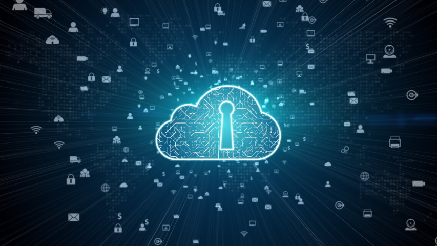 Secure Digital Data Network. Digital Cloud Computing Cyber Security Concept | Shutterstock HD Video #1040453468