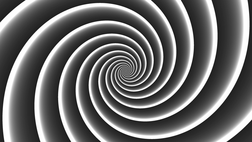 Abstract CGI motion background with Swirling hypnotic spiral in perfect seamless loop (4K 3840x2160 30Fps). | Shutterstock HD Video #1040829998