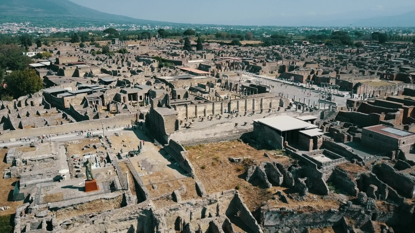 Drone footage over Pompeii, Italy | Shutterstock HD Video #1041083338