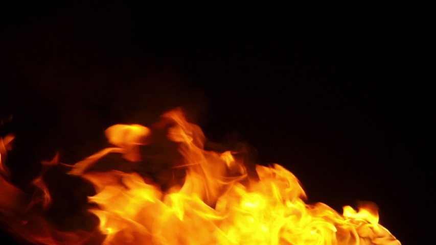 Fire on black background close-up | Shutterstock HD Video #1041148318