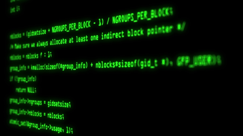 Computer screen with hacking program code. Hacker attack detected on screen | Shutterstock HD Video #1041427738