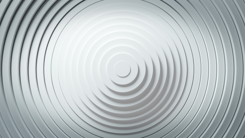 Abstract pattern of circles with the effect of displacement. White clean rings animation. Abstract background for business presentation. Seamless loop 4k 3d render | Shutterstock HD Video #1041692248