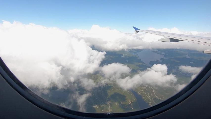 Flying over Nova Scotia, Canada   Shutterstock HD Video #1042277098