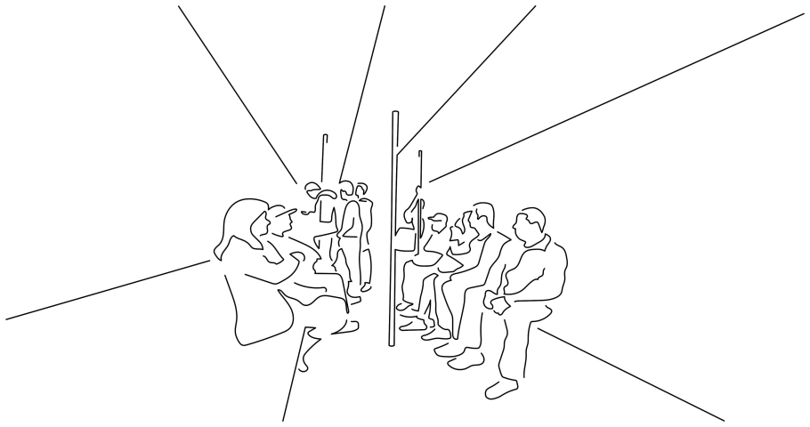 People on the subway isolated line drawing, vector illustration design. | Shutterstock HD Video #1042289218