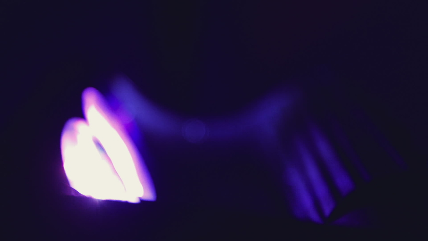 Close up slow motion shot, club party lights moving.   Shutterstock HD Video #1042491118