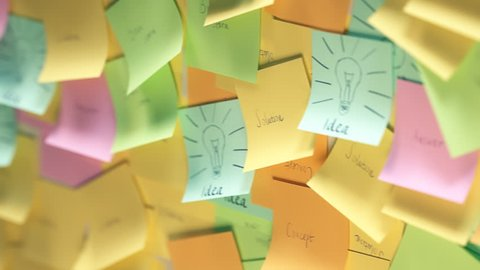 02317 Multiple Colourful Post It With Idea Text