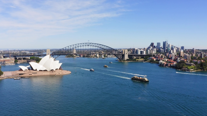 Aerial View of Sydney, Australia. Drone shot. Panorama. | Shutterstock HD Video #1042727518