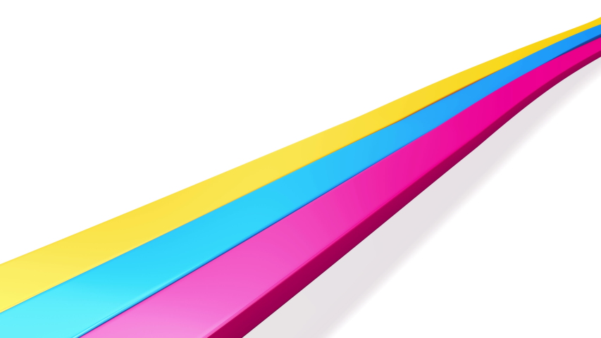 Dynamic waving colorful stripes. Loop | Shutterstock HD Video #1044702448