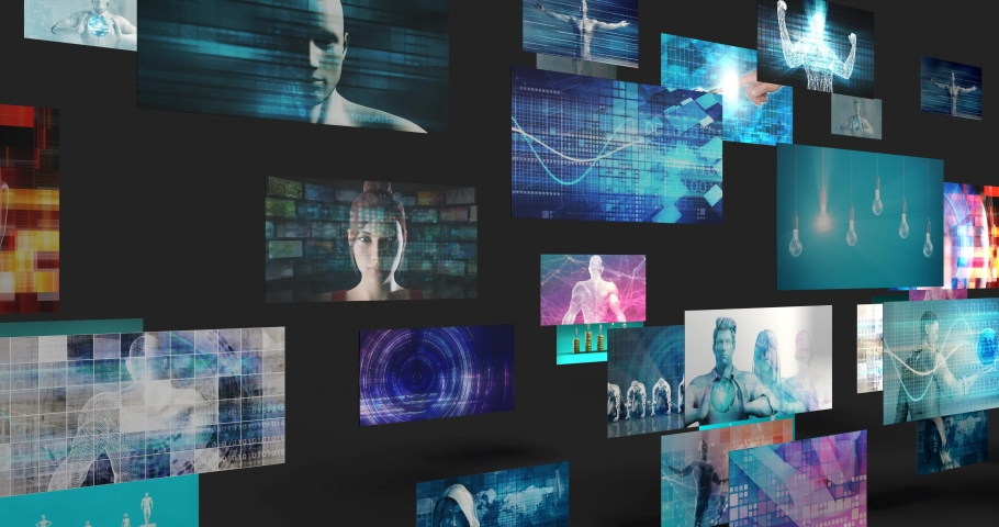 Creative Technology Idea and Digital Lifestyle Looping | Shutterstock HD Video #1045012498