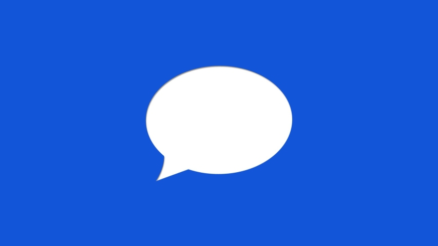Social Media Chat Icon Cut Out | Shutterstock HD Video #1045196098