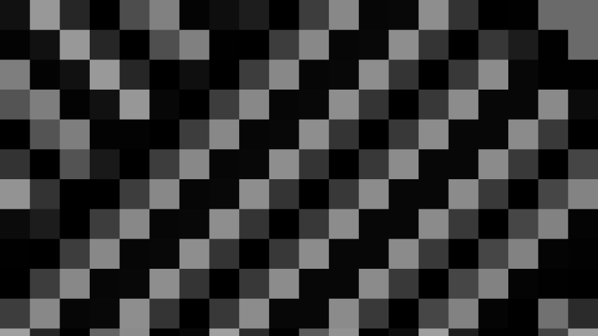 Abstract animation in black and white on a minimal background with mosaic effect, which varies in size, angle and intensity with abstract texture.   Shutterstock HD Video #1045274158