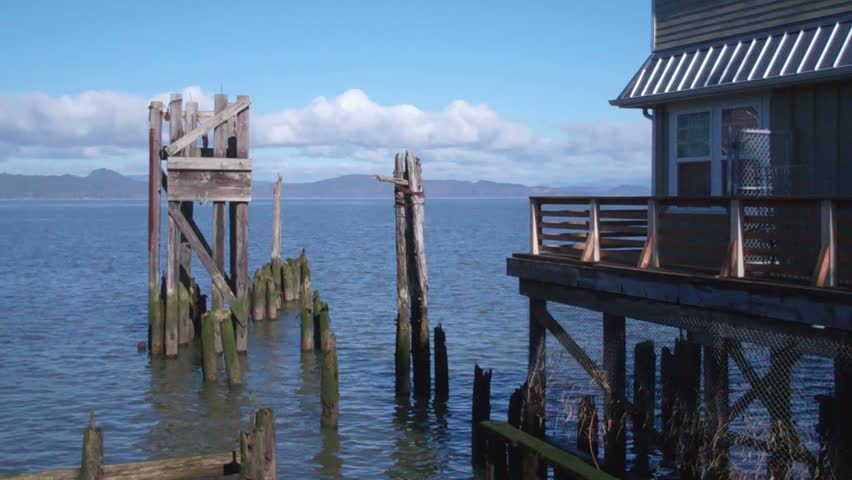 Columbia River at 14th Street Dock in Astoria Oregon