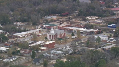 AERIAL United States-Flight Passing Lumpkin And The Court House 2008