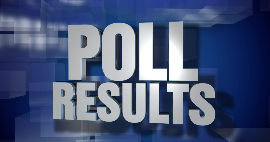 A blue dynamic 3D Poll Results news transition and title page animation. 5 and 2 second options included. Green screen.   | Shutterstock HD Video #1046826568