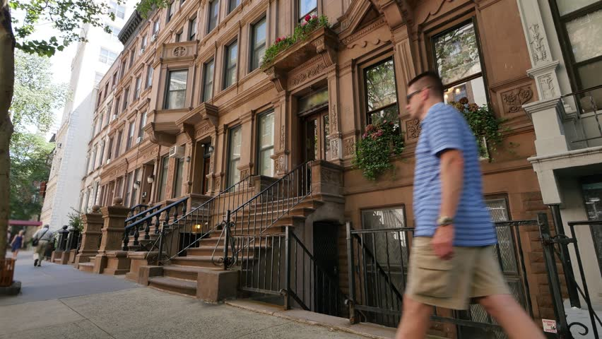 A Typical Daytime New York City Apartment Building Elishing Shot
