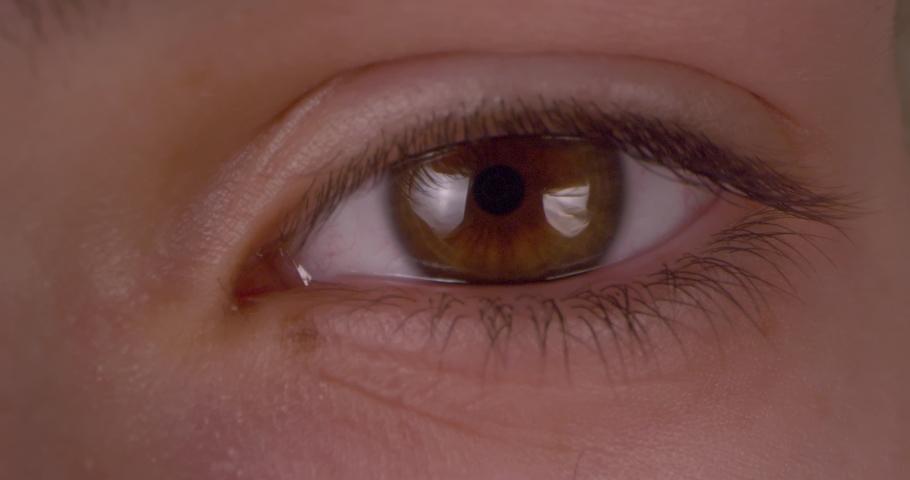 Female green-brown eye.  Extreme macro.   Shutterstock HD Video #1047112198