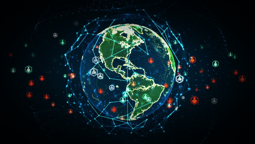 A stylized rendering of the earth conveying the modern digital age and its emphasis on global - Cisco wallpaper 4k ...