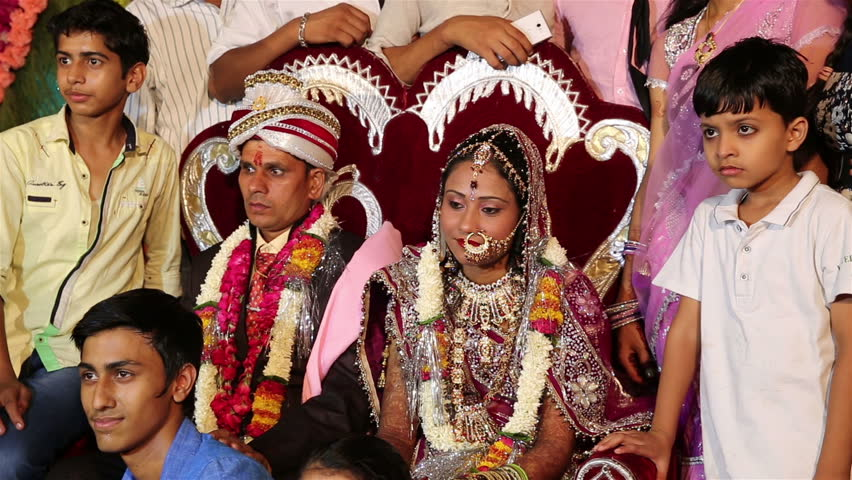 Vrindavan India July 11 2017 Traditional Indian Wedding Relatives And Guests