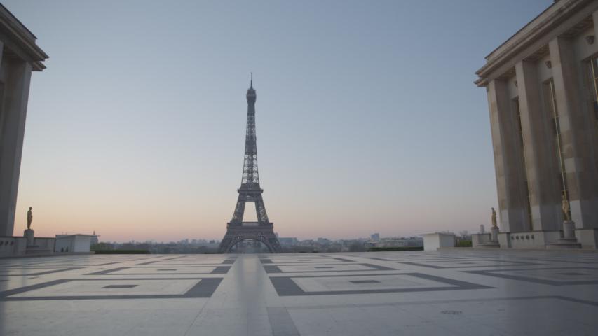 Tour Eiffel Paris Vide Coronavirus Confinement | Shutterstock HD Video #1049307328