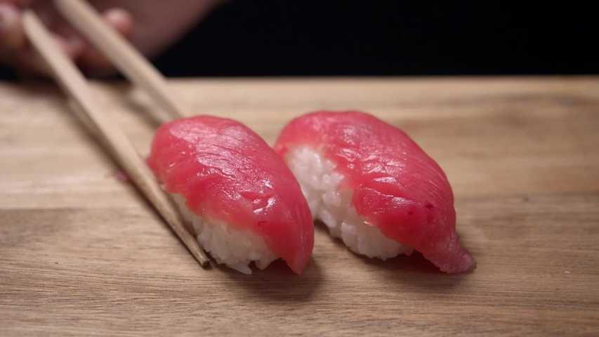 Japanese traditional sushi on board | Shutterstock HD Video #1049635918
