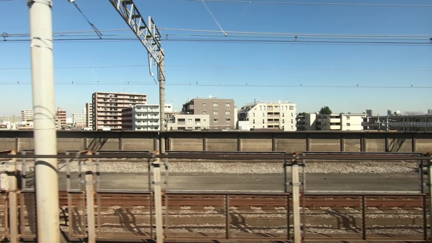 Passing the station. Japan Railway train window | Shutterstock HD Video #1049637628
