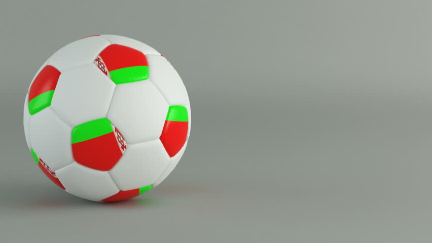 3D Render of spinning soccer ball with flag of Belarus | Shutterstock HD Video #1055518