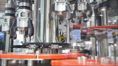 Steel Industrial, Factory Claw Robot Machine,