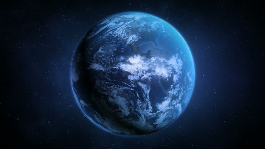 Realistic Sunrise Over Planet Earth - Preview is darker than actual. | Shutterstock HD Video #1060981